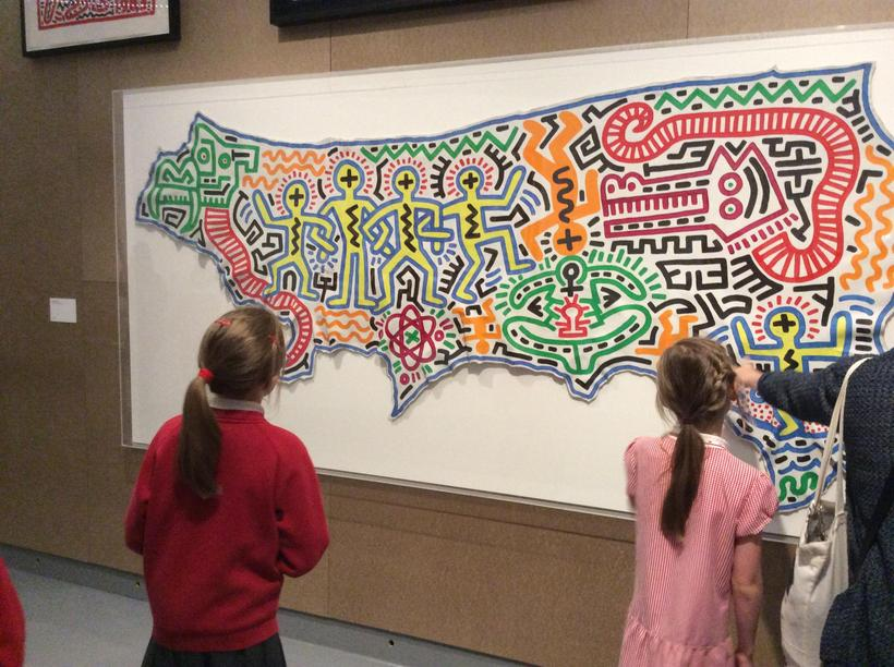 A map of America, Haring style
