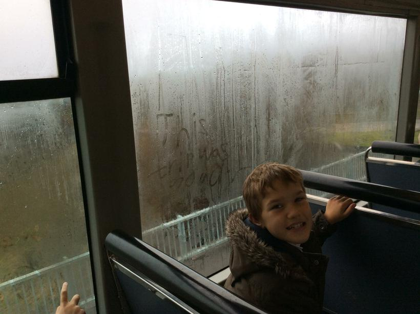 'This trip was good' on the window!