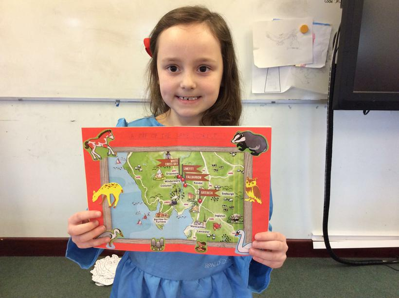 Layla's booklet of facts and pictures.