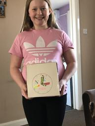 Kaitlyn has been making a clock!