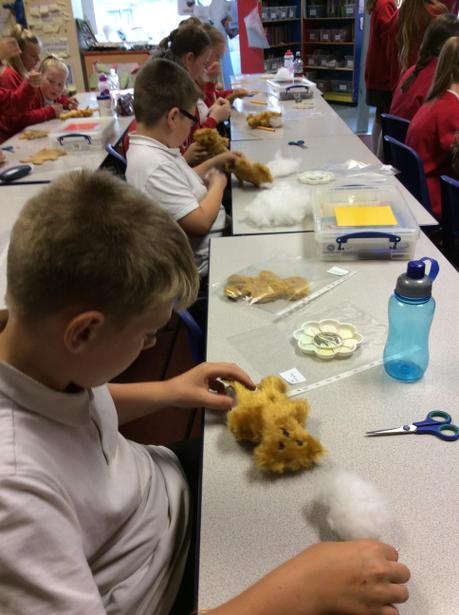 Stuffing our bears