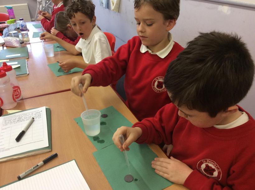 How many drops on a 10p piece?