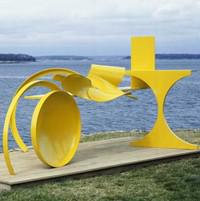 Anthony Caro's abstract metal sculptures