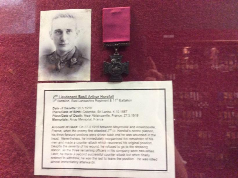 The Victoria Cross for bravery