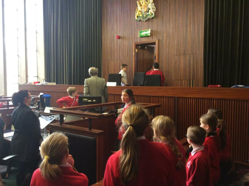 The magistrates withdraw to consider the verdict