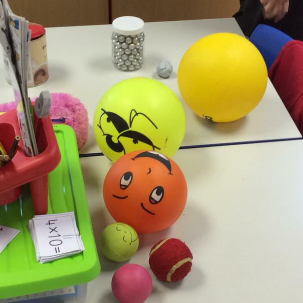 we used a selection of different balls.