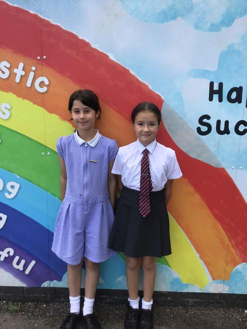 Charlotte (House Captain) and Olivia (Vice House Captain)