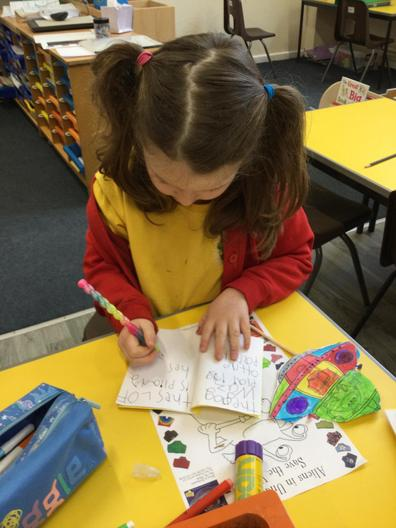 Making our own story books.