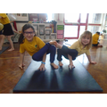 Gymnastics, exploring balances