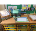 Check out our worm inspired writing area