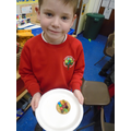 Decorating biscuits as a treat