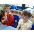 Preparing to make 'goo' in our Chemistry Workshop