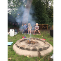 Toasting marshmallows at Forest School!