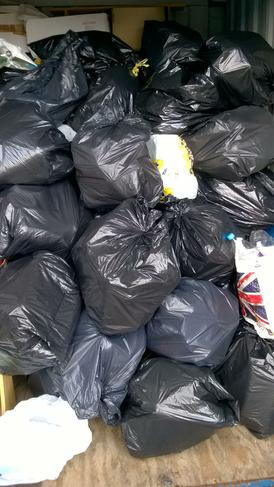 We collected this much rubbish on our litter pick!