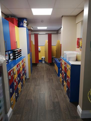Locker and toilet area