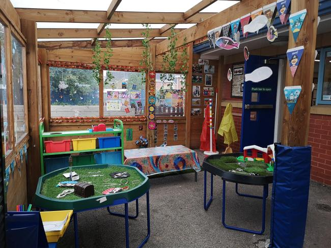 Our sheltered outdoor area
