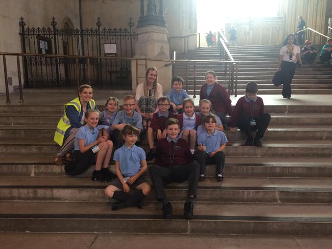 We sat in Westminster Hall.