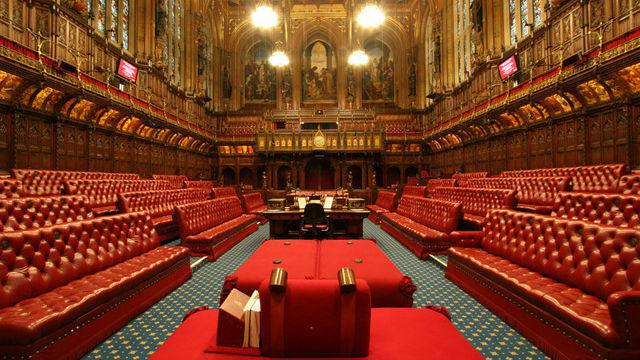 We saw inside the House of Lords.