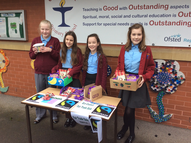One of our Fair Trade fund raising sales.