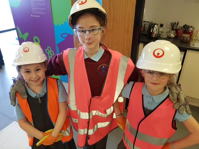 Eco team visit a local recycling centre.