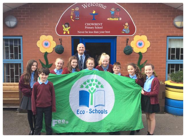 4 times winners of the Eco School Green Flag Award