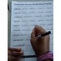 Practising our handwriting