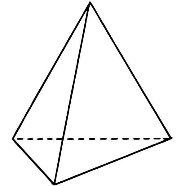 The shape they make is a regular tetrahedron.