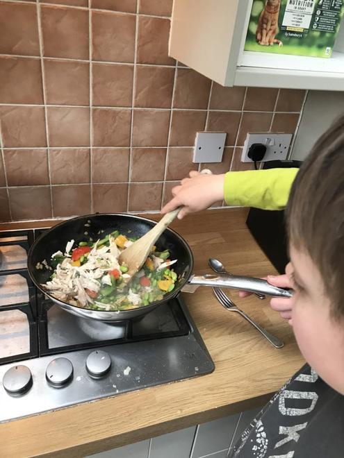 Stir frying