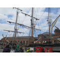 Looking at the tall ship in the dry docks