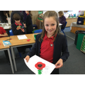 Making poppies for the Everyman Theatre's show