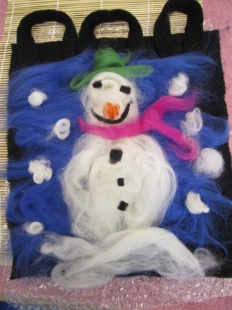 Snowman Felting