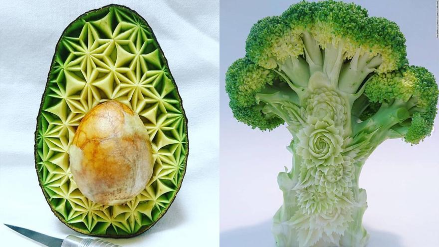 Carved veg