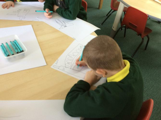 We enjoy developing our drawing skills.