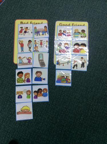 Sorting activity- What makes a bad or good friend?