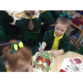 we made Chinese dragon masks