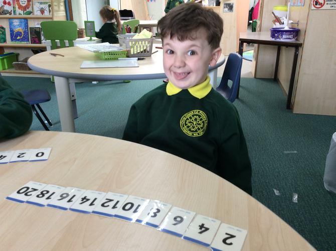 Ordering even numbers.