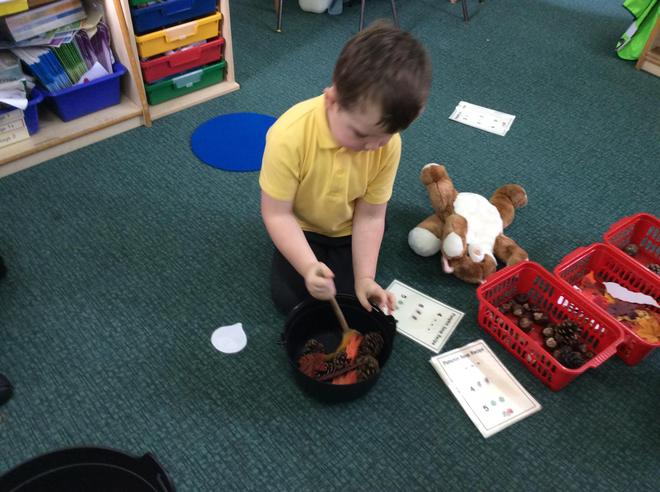 Counting out to feed the animals