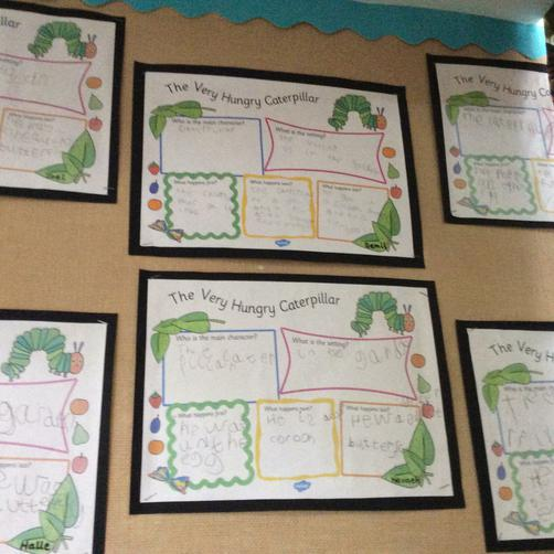 Our Very Hungry Caterpillar story boards
