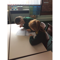 Collaboratively, we read a text and discuss it.