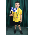 Josh King was proud to win medals on Sports Day.