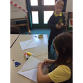 Making our kites.