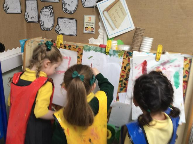 Exploring art and colour in the painting area