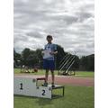 Silver in boys 600m