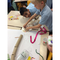 Having fun while learning together in a team.