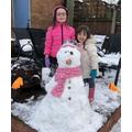 Mrs Waddison's snowgirl :-)