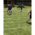 Year 1 girls running