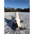 Oscar's HUGE snowman. I'm surprised there's any snow left on the ground!