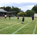 Year 1 boys obstacle