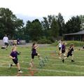Year 1 girls hurdles
