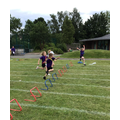 Year 1 girls hurdle